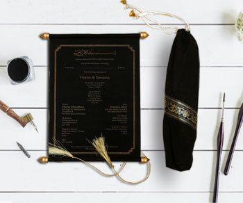 Scroll Wedding Invitations - IndianWeddingCards