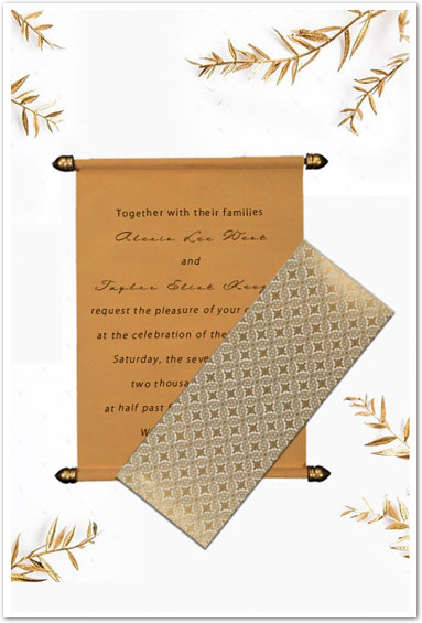IVORY VELVET WEDDING INVITATION : CSC-5008C-IndianWeddingCards