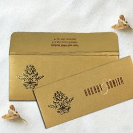 SHIMMERY POCKET THEMED - SCREEN PRINTED WEDDING CARD : CD-1727