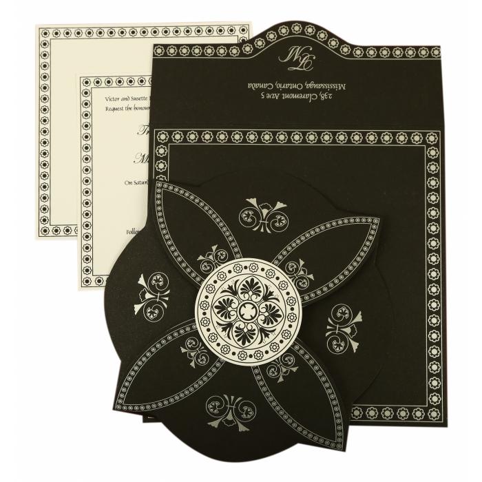 Black Butterfly Themed - Screen Printed Wedding Invitation : CIN-820E - IndianWeddingCards