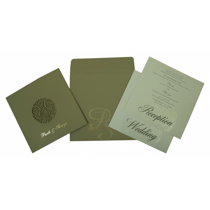 Black Matte Laser Cut Wedding Invitation : CD-1815 - IndianWeddingCards