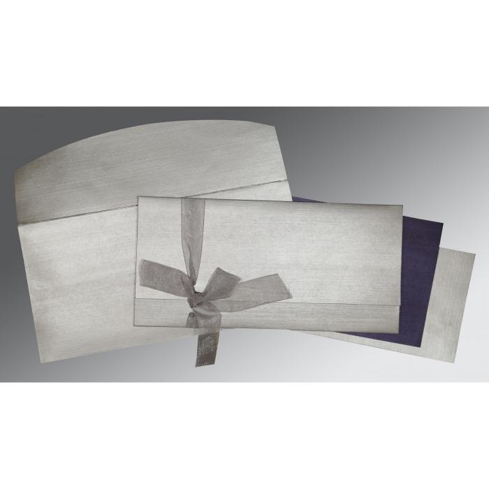 Black Shimmery Wedding Card : CD-1498 - IndianWeddingCards