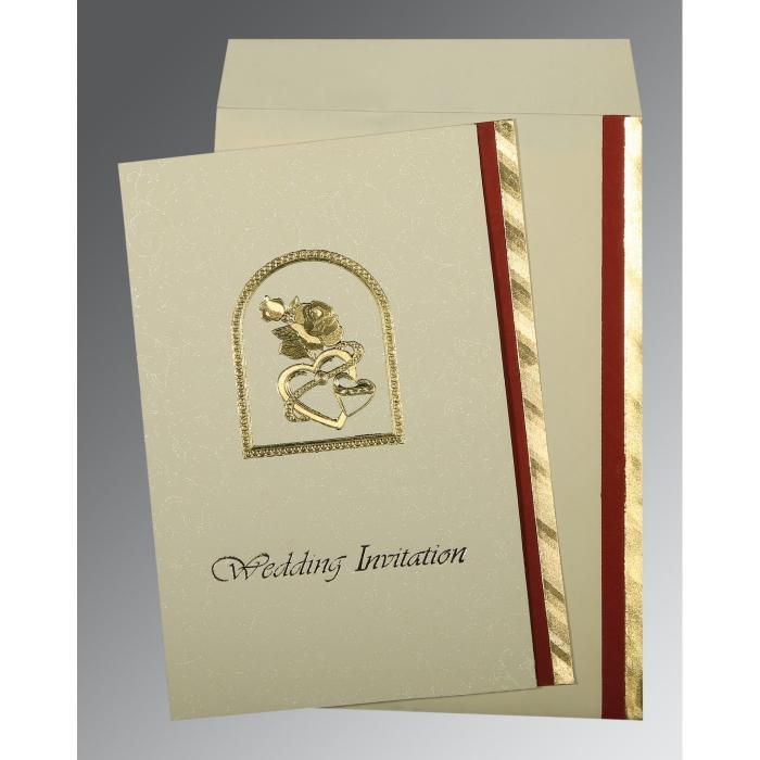 Blue Glossy Wedding Card : CC-0016 - IndianWeddingCards