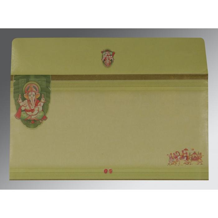 Ivory Embossed Wedding Card : CW-2226 - IndianWeddingCards