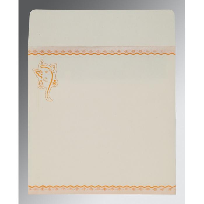 Orange Matte Embossed Wedding Invitation : CIN-2214 - IndianWeddingCards