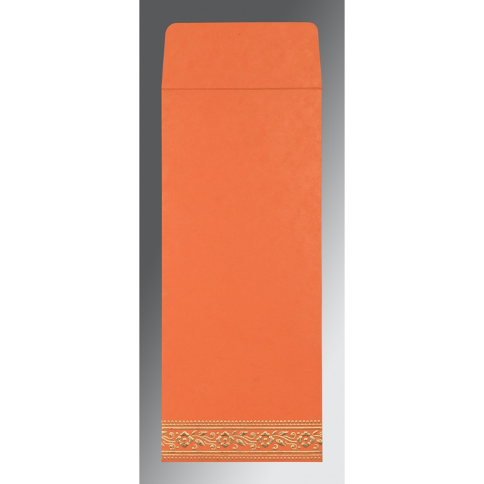 Orange Wooly Screen Printed Wedding Invitation : CD-8220N - IndianWeddingCards