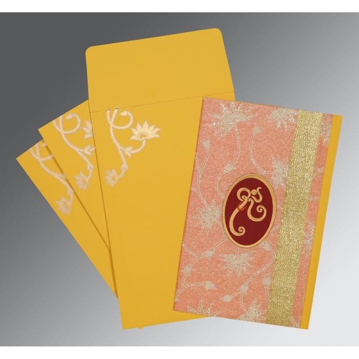 Pink Matte Wedding Invitation : CW-1346 - IndianWeddingCards