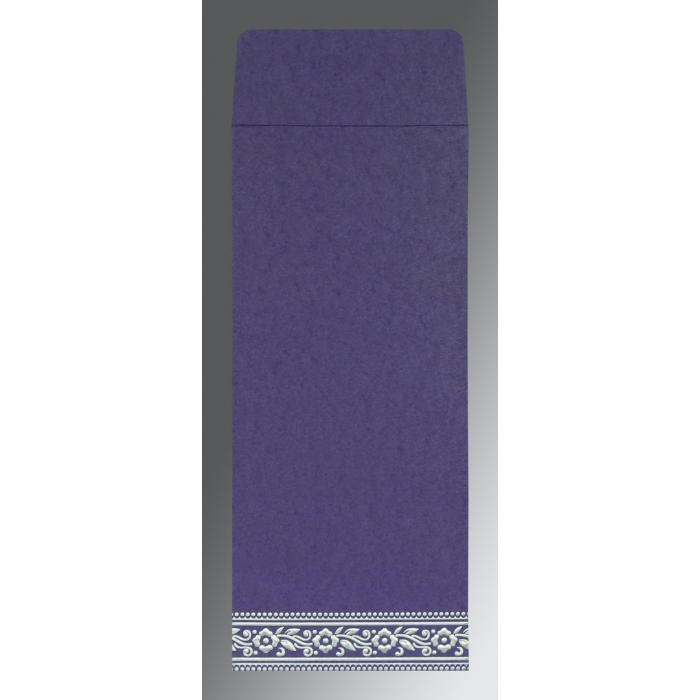 Purple Wooly Screen Printed Wedding Invitation : CW-8220P - IndianWeddingCards