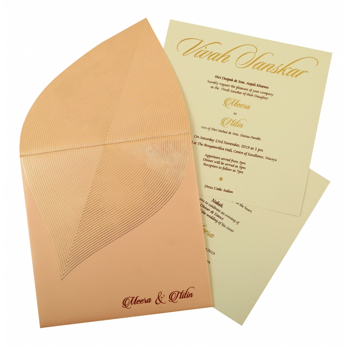 Unique Themed - Wedding Invitation : CD-1859 - IndianWeddingCards