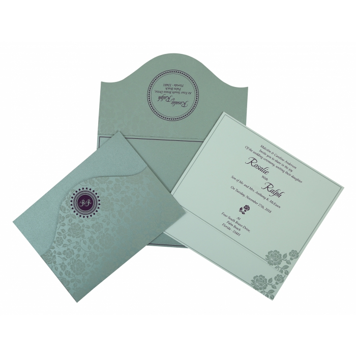 Wedding Invitation : CW-802A - IndianWeddingCards