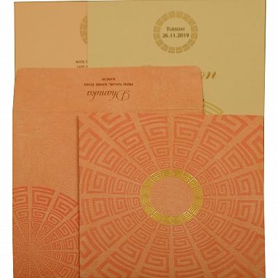 Baby Pink Matte Foil Stamped Wedding Invitation : CW-1889 - IndianWeddingCards