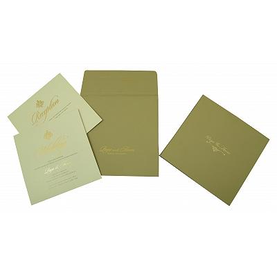 Black Matte Box Themed - Embossed Wedding Invitation : CI-1824