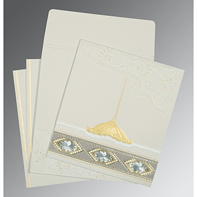 Black Matte Box Themed - Foil Stamped Wedding Card : CI-1228 - IndianWeddingCards