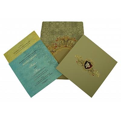 Black Matte Box Themed - Foil Stamped Wedding Invitation : CW-1836 - IndianWeddingCards
