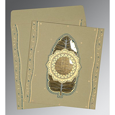 Black Matte Embossed Wedding Card : CD-1194 - IndianWeddingCards