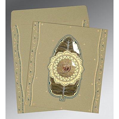 Black Matte Embossed Wedding Card : CS-1194 - IndianWeddingCards