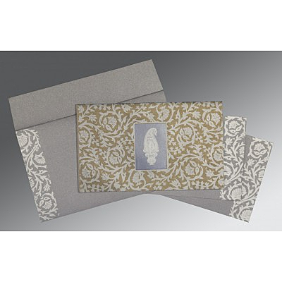 Black Screen Printed Wedding Invitation : CS-1371 - IndianWeddingCards