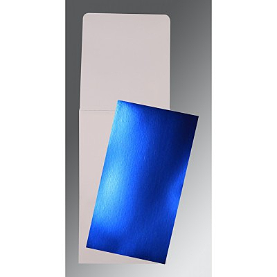 Blue Glossy Wedding Card : CP-0012