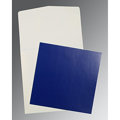 Blue Glossy Wedding Card : CP-0016