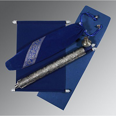 Blue Velvet Wedding Card : CSC-5005A - IndianWeddingCards