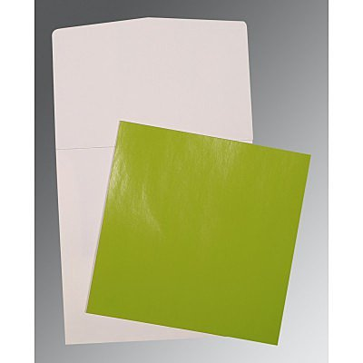 Green Glossy Wedding Card : CP-0017
