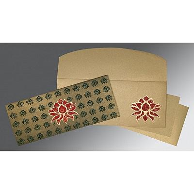 Green Shimmery Screen Printed Wedding Invitation : CW-1449 - IndianWeddingCards