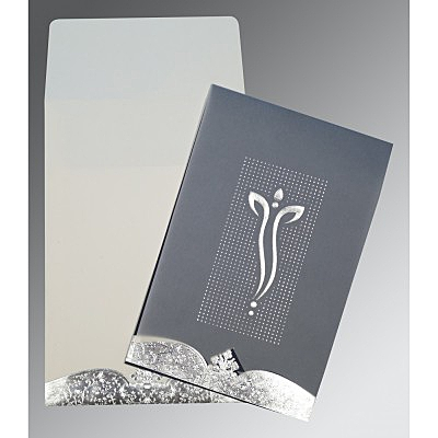 Ivory Foil Embossed Wedding Invitation : CIN-2279