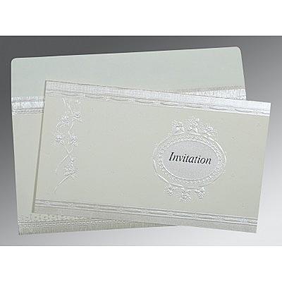 Ivory Matte Foil Stamped Wedding Card : CIN-1328 - IndianWeddingCards