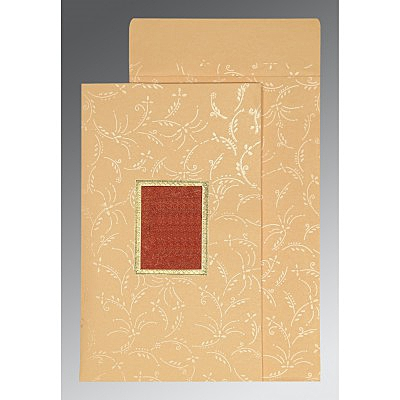 Ivory Matte Screen Printed Wedding Card : CD-1303 - IndianWeddingCards