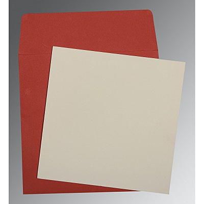 Ivory Matte Wedding Card : CP-0003