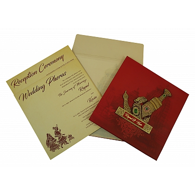 Matte Box Themed - Offset Printed Wedding Invitation : CW-1827 - IndianWeddingCards