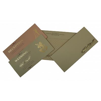 Pink Matte Embossed Wedding Invitation : CD-1808 - IndianWeddingCards