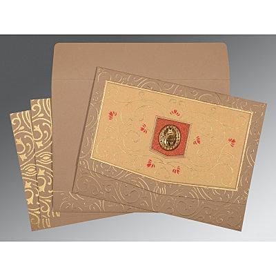 Pink Matte Embossed Wedding Card : CS-1394 - IndianWeddingCards