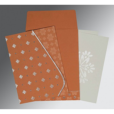 Pink Matte Floral Themed - Foil Stamped Wedding Invitation : CG-8237C - IndianWeddingCards