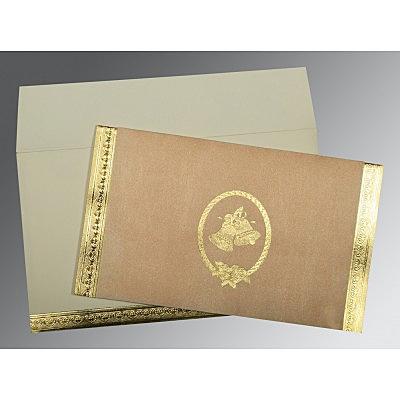 Pink Matte Foil Stamped Wedding Card : CC-0012 - IndianWeddingCards