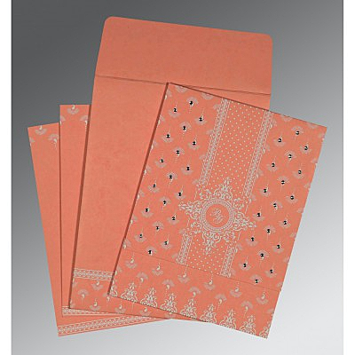 Pink Matte Screen Printed Wedding Invitation : CS-8247A - IndianWeddingCards