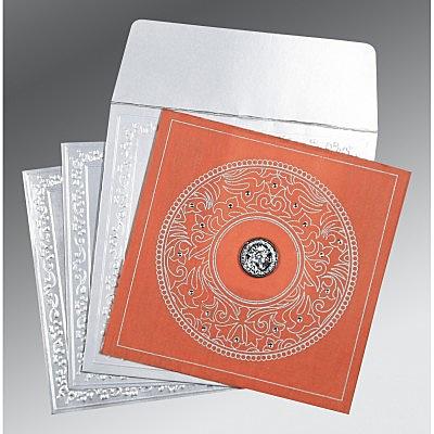 Pink Wooly Screen Printed Wedding Card : CS-8214M - IndianWeddingCards