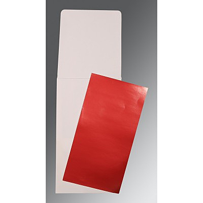 Red Glossy Wedding Card : CP-0010