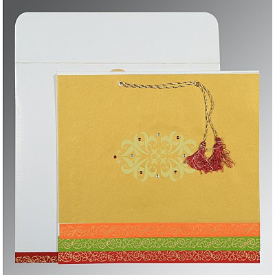 Screen Printed Wedding Card : CI-1396 - IndianWeddingCards