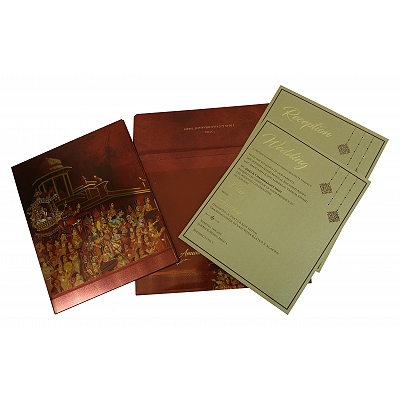 Shimmery Box Themed - Offset Printed Wedding Invitation : CD-1835 - IndianWeddingCards