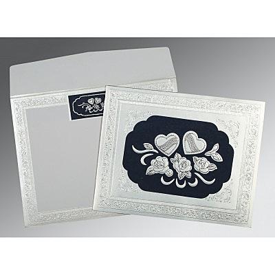 Shimmery Floral Themed - Embossed Wedding Invitation : CS-1325 - IndianWeddingCards
