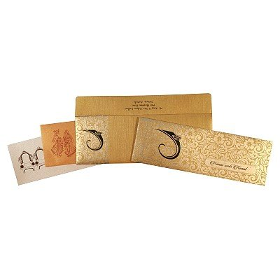 Shimmery Foil Embossed Wedding Invitation : CW-2285 - IndianWeddingCards