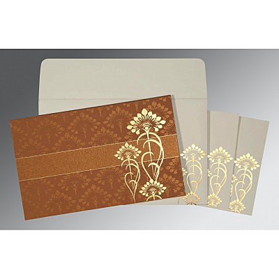 Shimmery Screen Printed Wedding Card : CIN-8239H - IndianWeddingCards