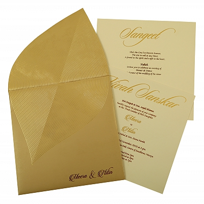 Unique Themed - Wedding Invitation : CC-1879 - IndianWeddingCards